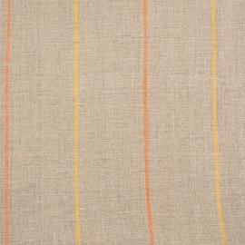 Linen Fabric Sample Stripe Natural Orange