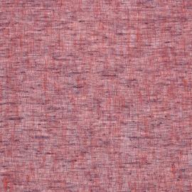 Linen Sheer Fabric Sample Purple Twist Open