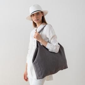 Linen Bag Terra Steel Grey