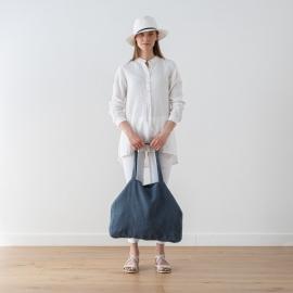Linen Bag Terra Blue