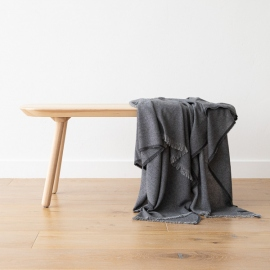Cashmere Wool Throw Grey Salvatore