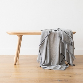 Cashmere Wool Throw Silver Salvatore