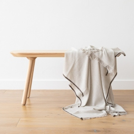 Cashmere Wool Throw Beige Salvatore