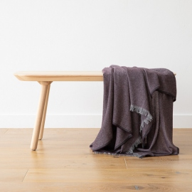 Cashmere Wool Throw Choco Salvatore