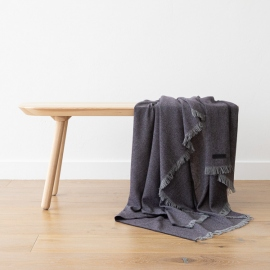 Cashmere Wool Throw Purple Salvatore