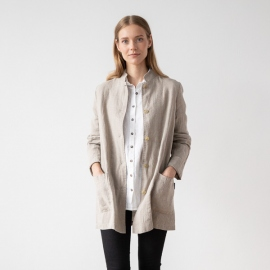 Natural Linen Jacket Short Paolo