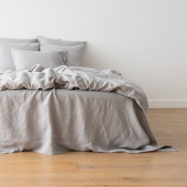 Washed Bed Linen Set Cool Grey