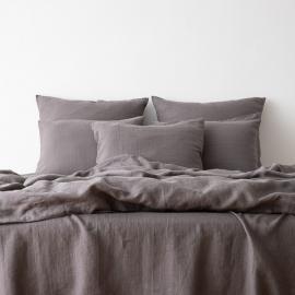 Washed Bed Linen Set Graphite