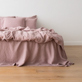 Washed Bed Linen Set Dusty Rose