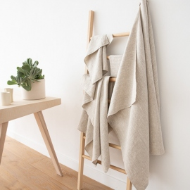 Linen Bath Towels Set Natural Provence