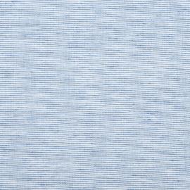Blue Linen Fabric Prewashed Pinstripe