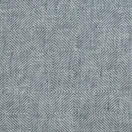 Balsam Green Linen Fabric Sample Stone Washed Rhomb
