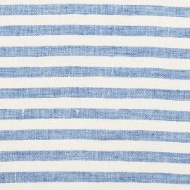 Blue Linen Fabric Sample Ticking Stripe