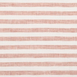 Rosa Linen Fabric Prewashed Ticking Stripe