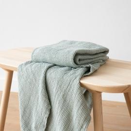 Linen Sea Foam Bath Towel Waffle Big