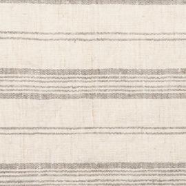 Creme Multistriped Linen Fabric