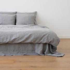 Washed Bed Linen Duvet Melange Graphite