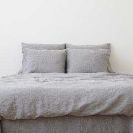 Washed Bed Linen Set Melange Graphite
