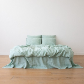 Washed Bed Linen Set Melange Mint