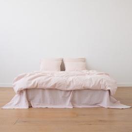Washed Bed Linen Set Pinstripe Rosa