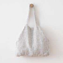 Graphite Linen Beach Bag Brittany