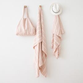 Rosa Linen Beach Bag Multistripe