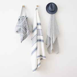 Linen Beach Towel Tuscany Indigo