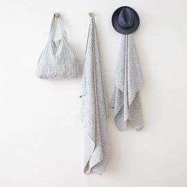Linen Beach Towel Brittany Indigo
