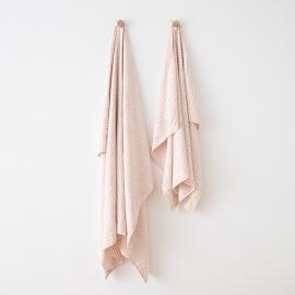 Linen Beach Towel Brittany Rosa