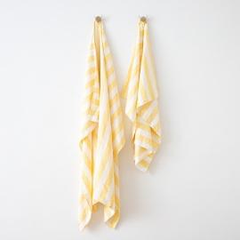 Linen Beach Towel Philippe Yellow