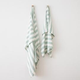 Linen Beach Towel Philippe Aqua Foam