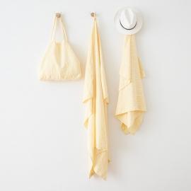 Linen Beach Towel Brittany Yellow