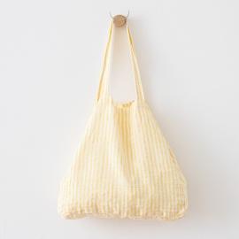 Yellow Linen Beach Bag Brittany