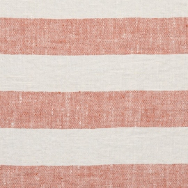 Brick Linen Fabric Philippe Washed