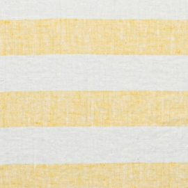 Yellow Linen Fabric Philippe Washed