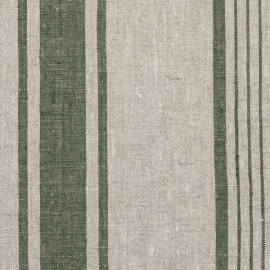 Forest Green Natural Linen Fabric Provance