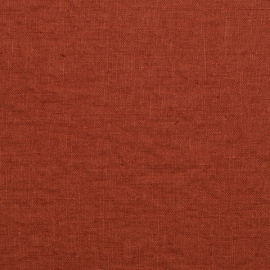 Linen Fabric Prewashed Terra Brick
