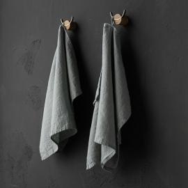 Set of 2 Sea Foam Linen Tea Towels Terra