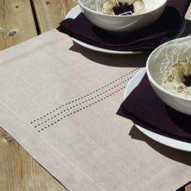 Stitch Collection Aubergine & Sand Linen Ideas