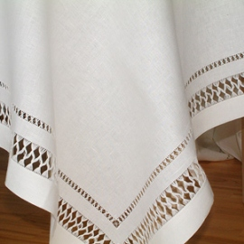 Linen Tablecloth Off White Queen