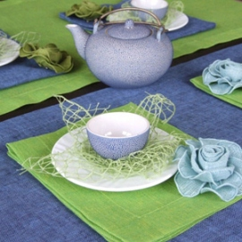 Twist Navy Blue & Lime Green Collection