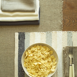 Rustic Runner, Napkin Natural & Lara Placemat Grey, Napkins Various Colours