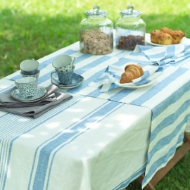 Philippe Napkins, Runner and Tuscany Tablecloth Blue