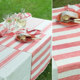 Philippe Napkins, Runner and Tuscany Tablecloth Red