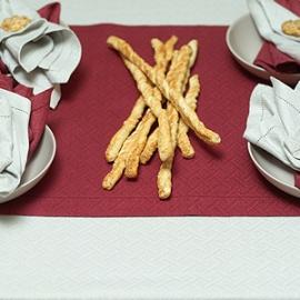 Burgundy Runner, Napkins Zinc & Burgundy and Silver Tablecloth Rhomb Damask