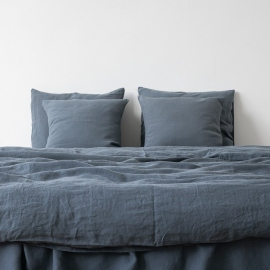 Blue Stone Washed Bed Linen Duvet