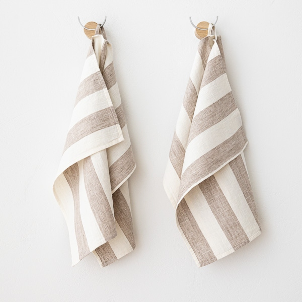 Guest Towels Linen: Grey Linen Hand And Guest Towels Philippe