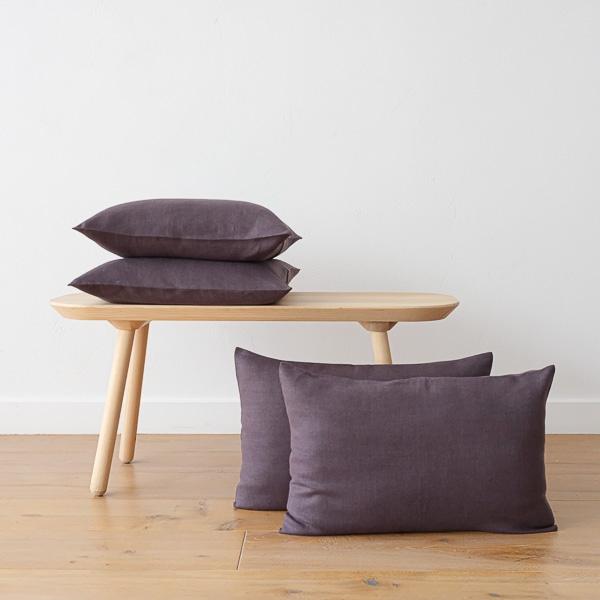 Natural grey linen pillow
