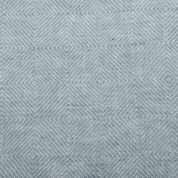 Stone Blue Linen Fabric Sample Stone Washed Rhomb- LinenMe