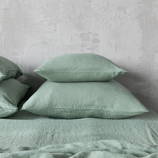 stone washed linen pillow
